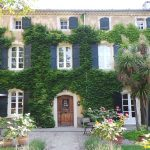 The facade of the historic manor house at Domaine Saint Hilaire