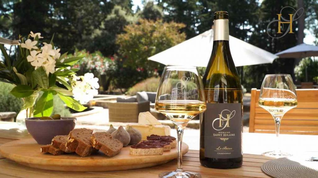 Tapas with award winning wine at Domaine Saint Hilaire